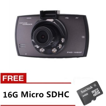 G30 Car DVR Camcorder (Black) with FREE 16GB Memory Card