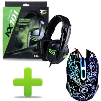 Gaming LED USB Mouse and Salar Gaming Headset