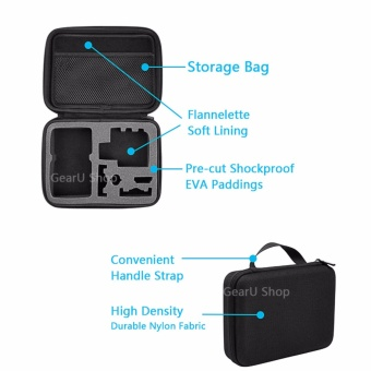 GearUshop Medium Size Carrying Case Protective Security Bag + GIFT Safety Rope For GoPro Hero 5 4 3 3+ 2 1 Session Black Silver Cameras & Accessories - intl - 4