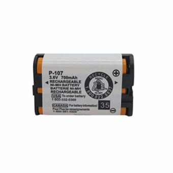 Geilienergy 3.6v 700mAh Rechargeable Cordless Phone Battery for Panasonic HHR-P107 HHRP107 HHR-P107A HHRP107A Cordless Telephone (Single)