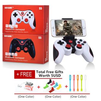 Gen Game S5 Game Controller Wireless Bluetooth Gamepads JoystickJoypad For iphone Android / iOS SmartPhone Tablet PC / PS3 - intl Price Philippines