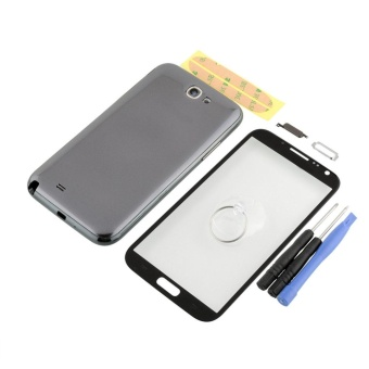 genuine Gray Housing Case Screen Glass tools kit For Samsung Note 2N7100 - intl - 2