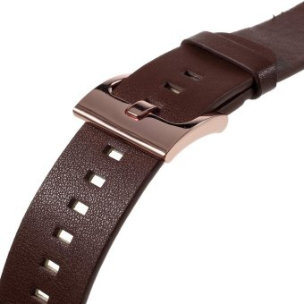 Genuine Leather Watchband for Samsung Gear S2 Classic R732 - Brown/ 20mm - intl - 2