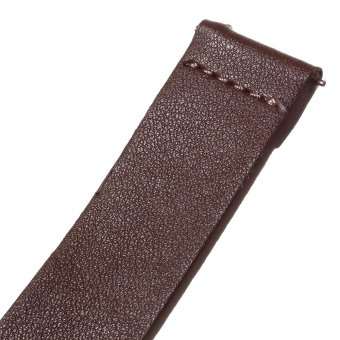 Genuine Leather Watchband for Samsung Gear S2 Classic R732 - Brown/ 20mm - intl - 3