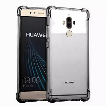 German Import Shockproof Silicone Clear Case for Huawei Mate 9 (Smoke Grey)