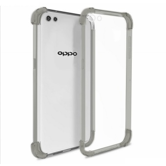 German Import Shockproof Silicone Clear Case for Oppo A33 (SmokeGrey)
