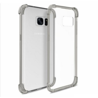German Import Shockproof Silicone Clear Case For Samsung Galaxy S7(Smoke Grey)