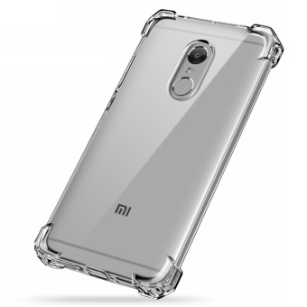 German Import Shockproof Silicone Clear Case For Xiaomi Redmi Note4 (Clear)