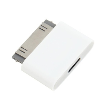 Gift 30 Pin Docking Male to 8 Pin Female Data Adapter For For iPhone 4 4S For iPad 2 3 White - intl