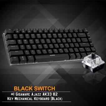 Gigaware Ajazz AK33 #1 82 Key Mechanical Keyboard (Black) (Black Switch)