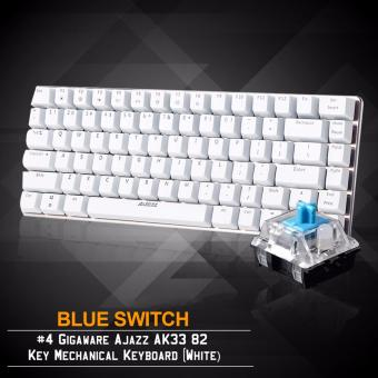 Gigaware Ajazz AK33 #4 82 Key Mechanical Keyboard (White) (BlueSwitch)