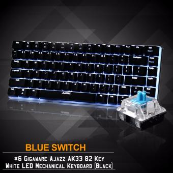Gigaware Ajazz AK33 #6 82 Key White LED Mechanical Keyboard (Black) (Blue Switch)