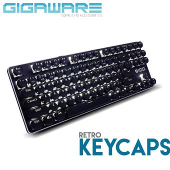 Gigaware Gaming Typewriter MX Keycaps for Mechanical Keyboard(Black)