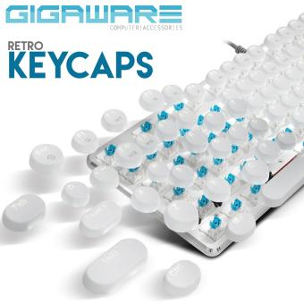 Gigaware Gaming Typewriter MX Keycaps for Mechanical Keyboard(White)