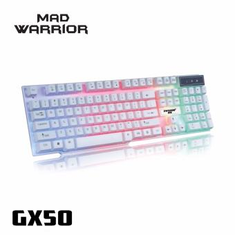 Gigaware GX50 Mad Warrior Suspended Keypress Gaming Keyboard(White)) Price Philippines