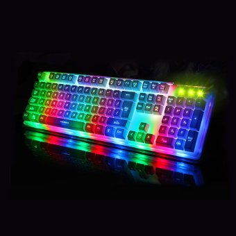 Gigaware Midio RX-8 Dazzle Mechanical Feel Gaming Keyboard (White)