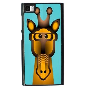 Giraffe Pattern Phone Case for Xiaomi Mi3 (Black)