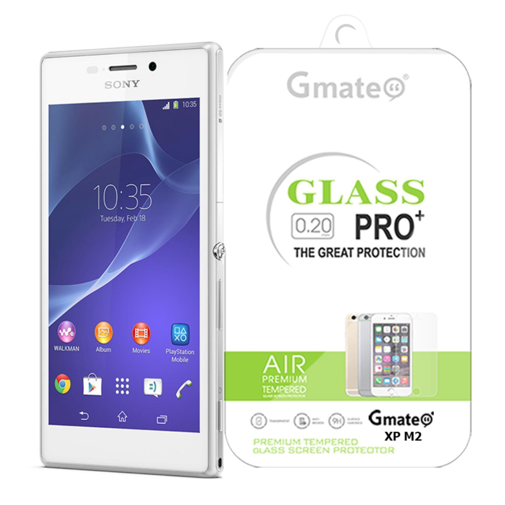 Gmate Tempered Glass Screen Protector For Sony Xperia M2 .