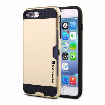 "Go Mobile Gears Kado Card Slot Case for Apple iPhone 7 PLUS5.5""(Gold)"