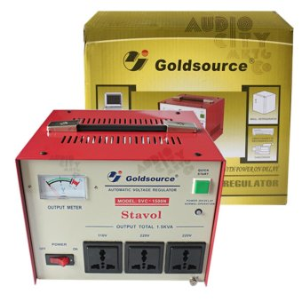 Goldsource SVC-1500N Automatic Voltage Regulator 1500W AVR (Red)