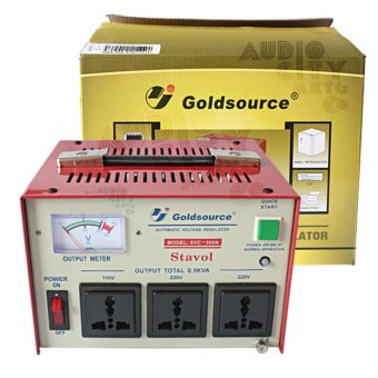 Goldsource SVC-500N Automatic Voltage Regulator 500W AVR (Red)