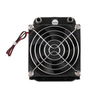 GOOD Aluminum 80mm Water Cooling cooled Row Heat Exchanger Radiator+Fan for CPU PC - intl