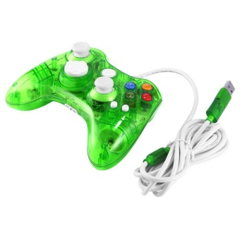 GOOD USB Wired Game Controller for Xbox 360 Joypad Gamepad Joystick with LED Light - intl