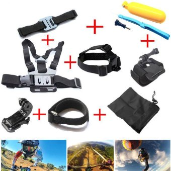 Gopro Accessories Chest Head Strap Monopod Floating BobberMountforGo pro Hero 4 3+2 1 xiaomi yi action cam sj4000 sj7000 -intl