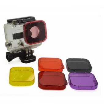 Gopro Accessories Filter Lens Cap Suit for Gopro Hero 4/3+ Yellow Price Philippines