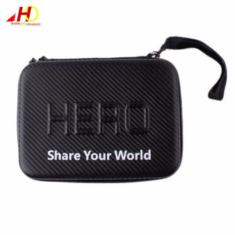 GoPro G071 Accessories Water Resistant Medium Size Case ShockproofProtective Case Cover Storage Travel Bag Carry Case For GoPro HDHero 4 2 3 3+ (Black)