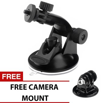 GP61 Car Suction Cup Mount Holder Tripod Mount Adapter For GoproHero 4 3+ 3, Sjcam sj4000