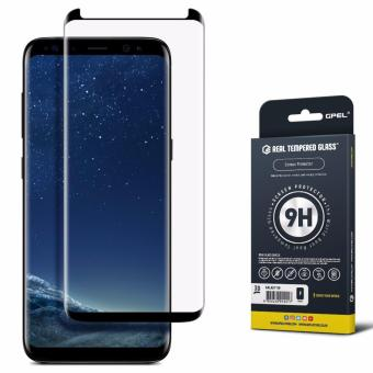 GPEL Samsung Galaxy S8 Tempered Glass [S8] [Case Friendly] Screen Protector, Premium Japanese Asahi Glass- (Black)