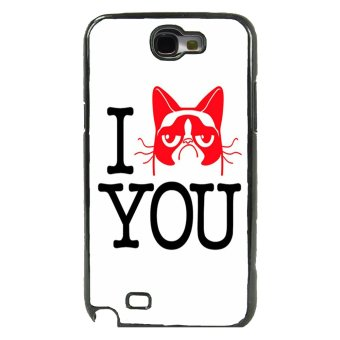 Grumpy Cat Pattern Phone Case For Samsung Galaxy Note 2 (Black)