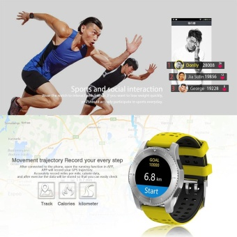 GS8 Wristband Heart Rate Blood Pressure Monitor Smart Watch with GPS Trajectory Tracker Support SIM Card For Android and IOS Phone - intl - 4