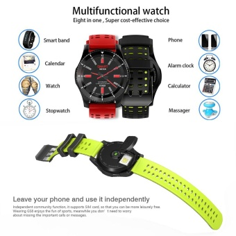 GS8 Wristband Heart Rate Blood Pressure Monitor Smart Watch with GPS Trajectory Tracker Support SIM Card For Android and IOS Phone - intl - 5