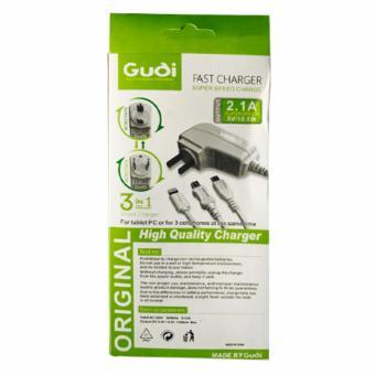 GUDI 3-IN-1 G-597 Smart USB FAST Charger 2.1 - 2