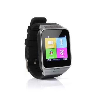 GV08 Smartwatch Quad Band 1.54 Inch Bluetooth BT Dialer Camera gt08 Smart Watch Phone (Black) - Intl