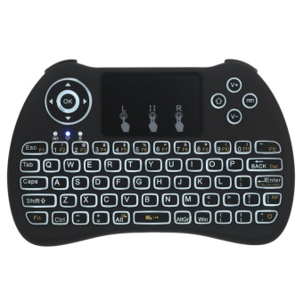 H9 2.4GHz Mini Wireless Keyboard with Touchpad Mouse Game Handle for Windows 10 / PC / Pad / Google Android TV Box / Smart TV / HTPC / IPTV / XBOX 360 / PS3 - intl