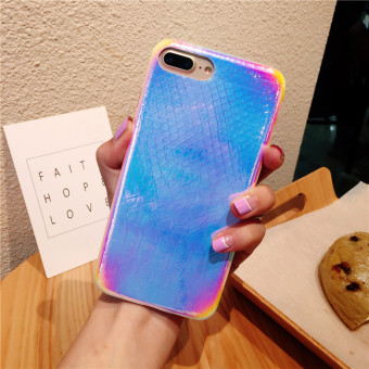 Han Chao iPhone 7plus fresh dreamy laser gradient phone case