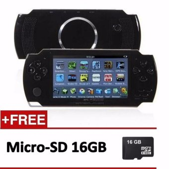 Handheld Game Console 4.3 inch screen mp4 player MP5 game player real 8GB support for psp game,camera,video,e-book + 16GB Memory Card - intl