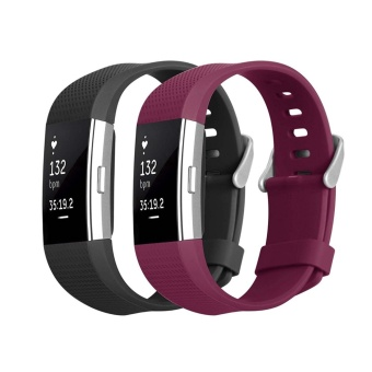 Hanlesi Band for Fitbit Charge 2, Soft TPU Adjustable ReplacementSport Strap Band for Fitbit Charge 2 Smartwatch Heart Rate FitnessWristband - intl