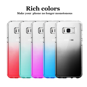 Hanlesi Galaxy S8+ Case, Gradient Stylish Soft TPU SiliconeTransparent [Anti-Slip] [Scratch-Resistant] Protective Cover forSamsung Galaxy S8 Plus 2017 - intl - 5