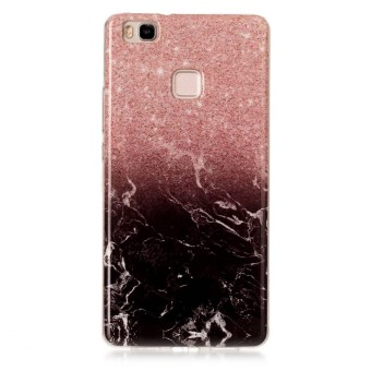 Happon Case for Huawei P9 Lite Marble Pattern Slim Fit Soft TPU Phone Back Case -