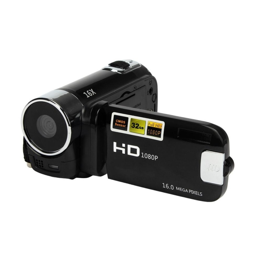 HD 1080P 16M 16X Digital Zoom Video Camcorder Camera DV Black - intl