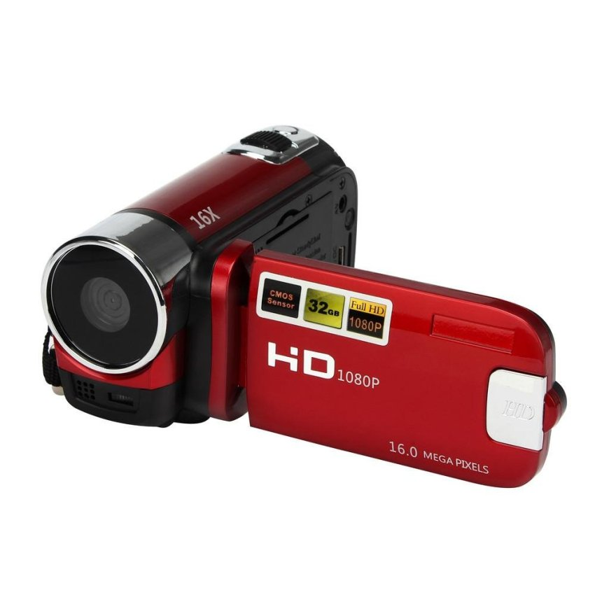 HD 1080P 16M 16X Digital Zoom Video Camcorder Camera DV Red - intl