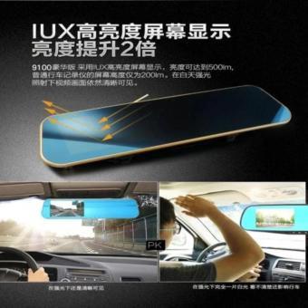 HD 1080p Monitor Dual Len In-Car Reversing Camera Cam DVR Rear View Mirror - 3