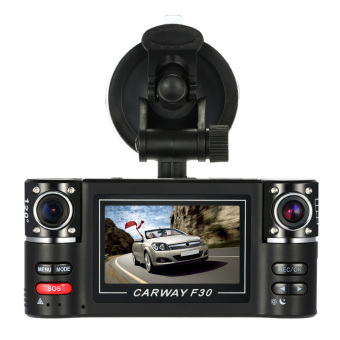 HD Dual Lens Car DVR Dash Dashboard Car Camera IR DVR with Night Vision and Recorder