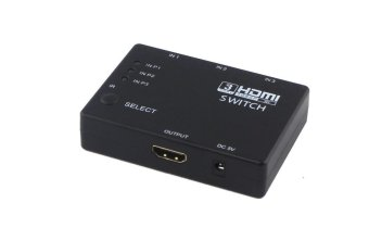HDMI Switch with IR Remote 3-in-1 Out