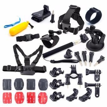 HeadStrap ChestStrap Case Tripod Strap Mount Monopod for Xiaoyi Go Pro Hero Session 5 4 3 SJCAM SJ4000 Sport Camera Accessories Kit