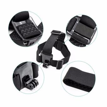 HeadStrap ChestStrap Lens Cover Monopod for Go pro 5 4 3 SJCAMSJ4000 Xiaoyi Action Sport Camera Accessories Kit - 2